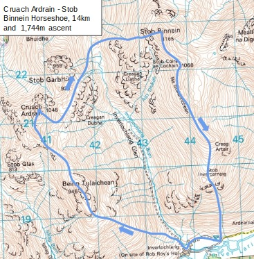 Stob Binnein map